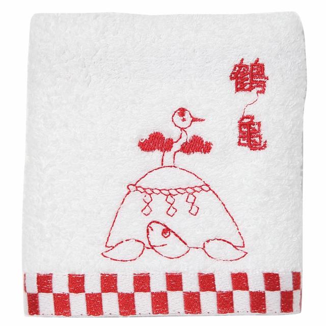 KY95-668/Hand Towel/Crane on Turtle Mountain