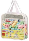 【教材 知育玩具 遊び創意】 ブロック ポーチ54 パステル