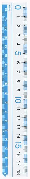 【学童用品 定規】 見やすい定規 AJR150A (18cm)