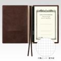 【アピカ】  CDノート ノートウェア A6サイズ用 ブラウン