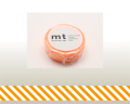 【マスキングテープ】 mt1Pストライプ・ショッキングオレンジ