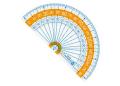 【学童用品 定規】 nanopita分度器ナノピタキッズ SK−7882 (9cm)