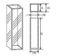 蛍光セル(全面透明) T-3-ES-10