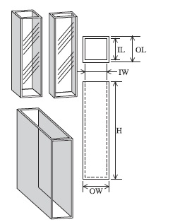 標準セル(2面透明) T-1-ES-10