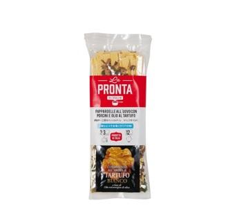 ラ・プロンタ ポルチーノ茸のパッパルデッレ トリュフオイル付