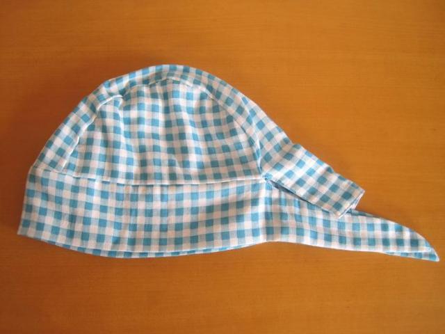 バンダナ帽子,チェック,抗がん剤,脱毛