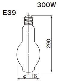 東芝ライテック  水銀灯 一般形  HF300X  300形 蛍光形