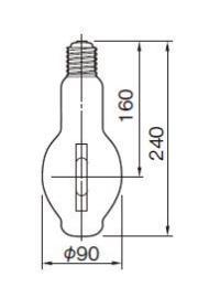 東芝ライテック  メタルハライドランプ HL-ネオハライド2 蛍光形  MF250・L-J2/BU-PS  250W形