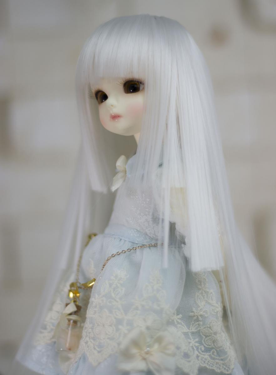 DOLK 6-7インチウィッグ WH-S0008D(White) (Dollism Plus Tokyo 2016)