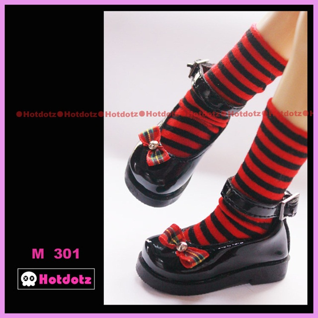 HD ミニSD用メリージェーンシューズ(ブラック)ソックス付M301