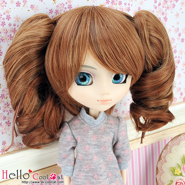 "【HT-GL2226】8.0~9.5"" HP Wigs w/Hair Pin # Brown10252"