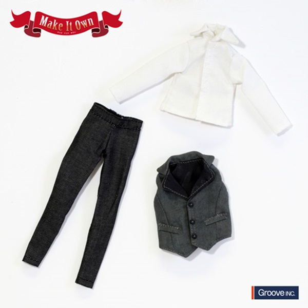 OutFit selection アウトフィット ベスト&ジーンズセット モノトーンバージョン