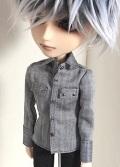 HS ヘリンボーンシャツ/テヤンサイズtt011