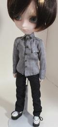 HS ヘリンボーンシャツ/イスルサイズit009