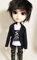 HS テーラードカラージャケット黒(コットン)/テヤンサイズto012