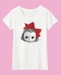 ブライス半袖Tシャツ「ファッショニスタモリー&ネリー」ドットリボンホワイト