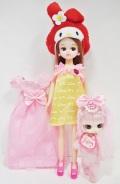 はじめましてリカちゃん イエロー+リトルビョル プラス「マイメロディベイビー」&ドレス・靴セット
