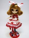 USEDダル/ Hello Little Girl!(ハロー リトルガール!)+jojikoドットハートドレス・靴セット