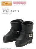 AKT112-BLK ダブルバックルブーツ / ブラック