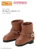 AKT112-BRN ダブルバックルブーツ / ブラウン