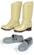 Shoes Selectionエンジニアブーツ(ベージュ)×ラバーソール(グレー)
