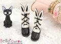 CC かわいいうさ耳付ブーツ ブラック24-1