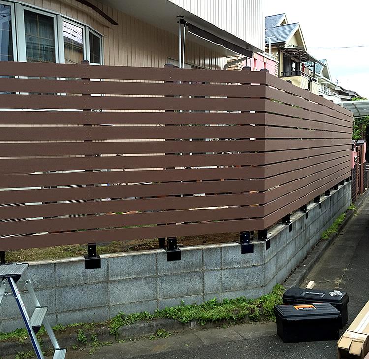 人工木ボーダーフェンス設置完了