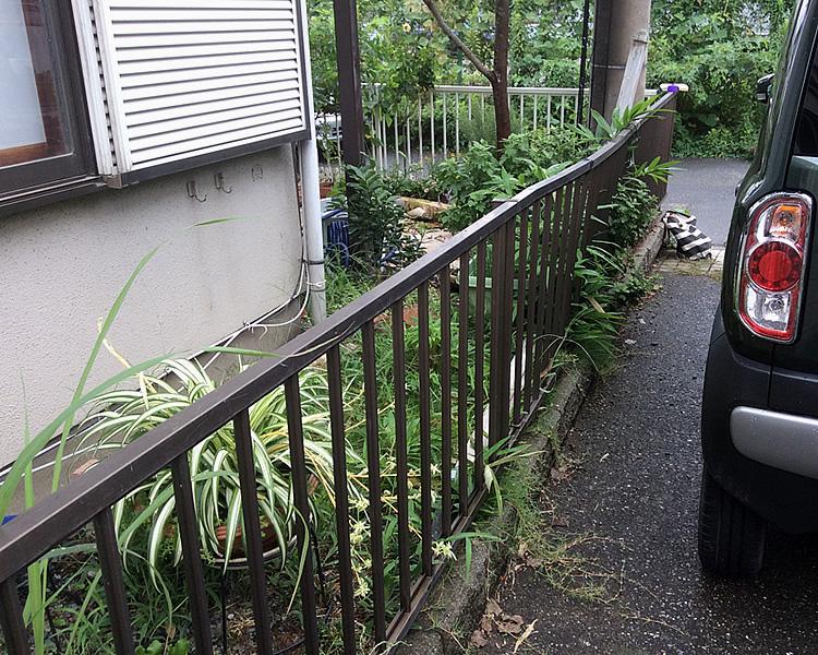 フェンス撤去前の写真