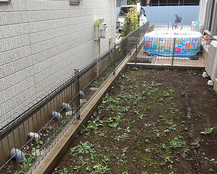 設置前のお庭風景