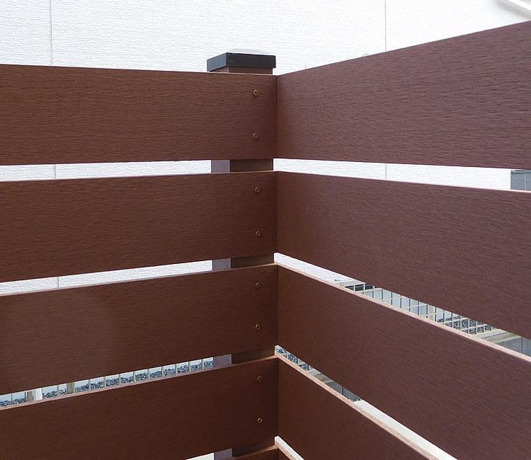 人工木材の入り隅処理