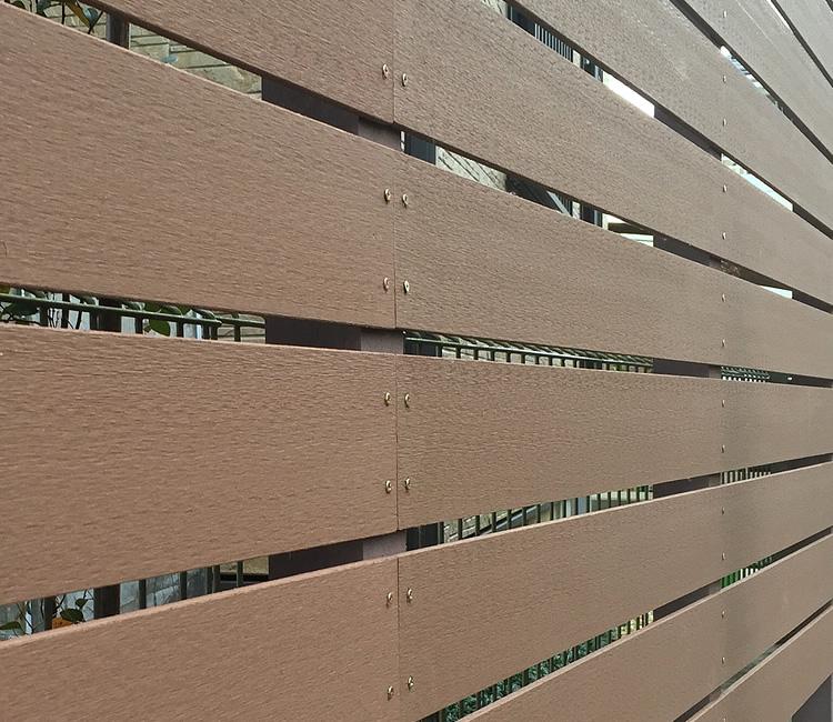 人工木材のアップ写真