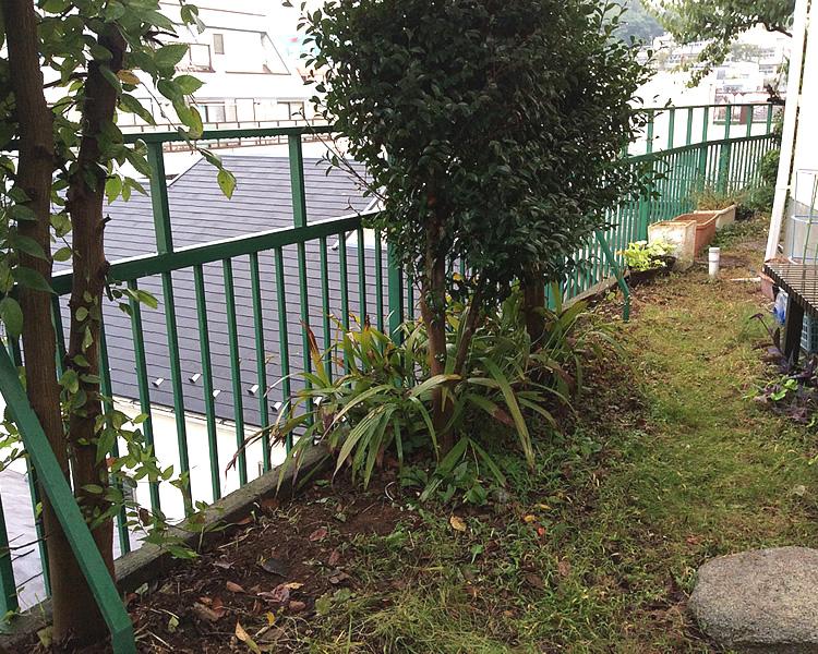 設置前のお庭