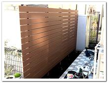 隣家の物置を隠すために設置するボーダーフェンス