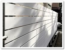 家屋周囲への人工木ホワイトボーダーフェンス設置例