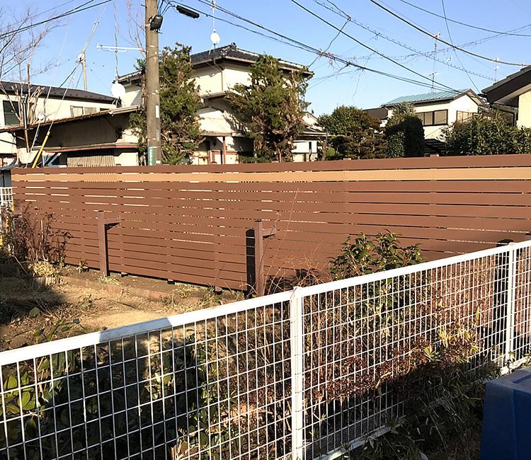 人工木フェンス施工完了!