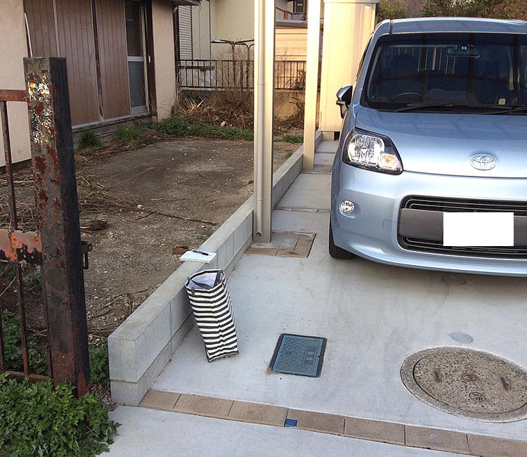 設置前の駐車場