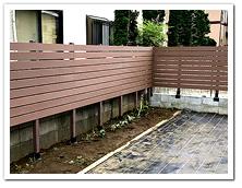 新築お住まいへの人工木ボーダーフェンスとデッキ設置