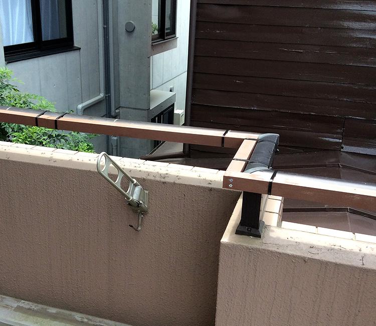 既存フェンスの水平処理