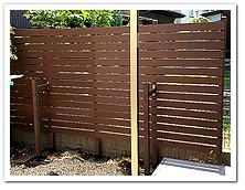 隣家との仕切りに設置した人工木ボーダーフェンス