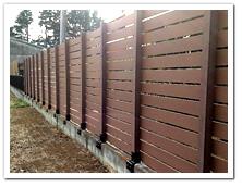 既存フェンスを撤去したブロック上へのボーダーフェンス設置