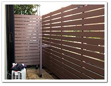 人工木ボーダーフェンス&人工木デッキ設置例