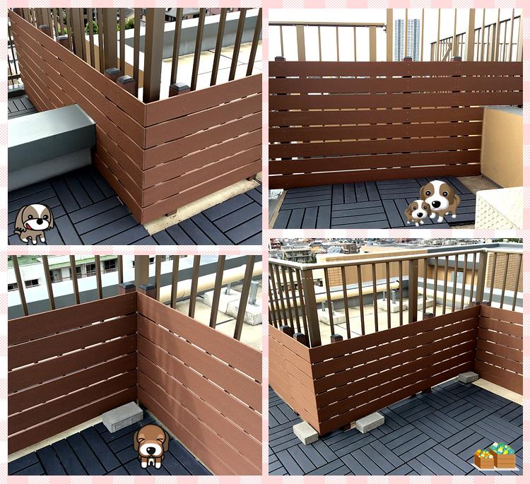 フェンス取付スナップ写真