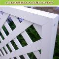 人工木ホワイト塗装ラティス1590