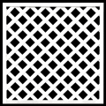 ホワイト格子ラティス900×900