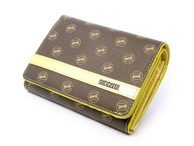シグネチャー 二つ折り財布(小銭入れあり) 「ゴールドファイル」 GP34213 イエロー