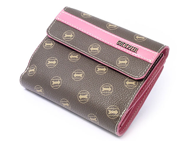 シグネチャー 二つ折り財布(小銭入れあり) 「ゴールドファイル」 GP34311 ピンク