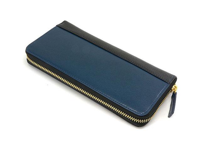 NPF6013 Favor(フェイバー)  ラウンドファスナー長財布 「プレリートラディッショナルファクトリー」 ブルー 正面