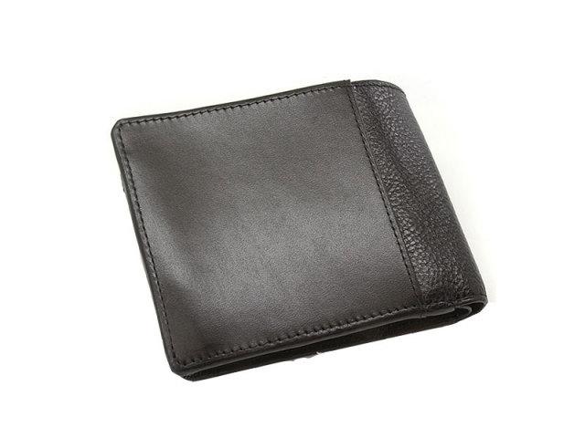 NPF6212 Favor(フェイバー)  二つ折り財布(小銭入れあり) 「プレリートラディッショナルファクトリー」 ブラック 正面