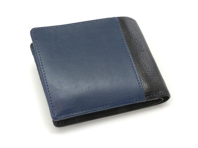 NPF6212 Favor(フェイバー)  二つ折り財布(小銭入れあり) 「プレリートラディッショナルファクトリー」 ブルー 正面
