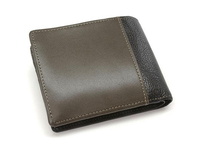 NPF6212 Favor(フェイバー)  二つ折り財布(小銭入れあり) 「プレリートラディッショナルファクトリー」 カーキ 正面